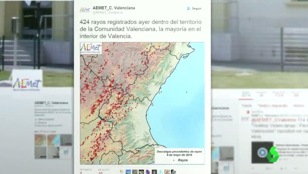 Registran 424 rayos en Valencia