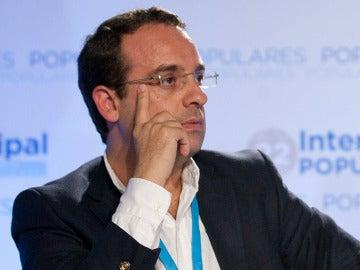 Daniel Ortiz en un acto del Partido Popular