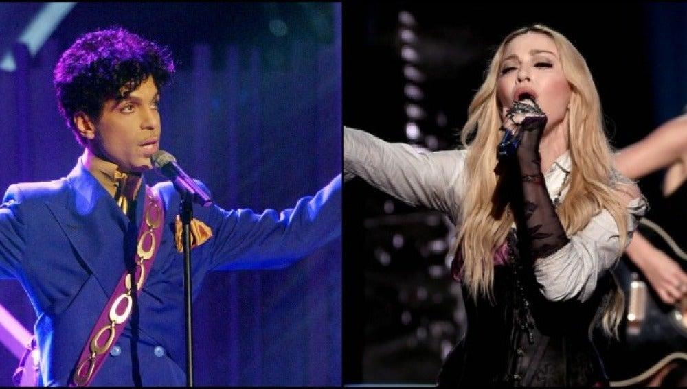 Imagen de Price y Madonna en el escenario