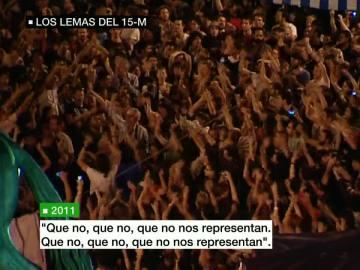 Miles de indignados gritaban contra los políticos en 2011