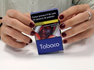 Ejemplo de las cajetillas de tabaco que entrarán en vigor a partir del 20 de mayo