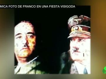 Proyección de Franco y Hitler