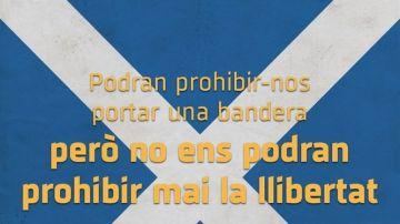 Campaña para portar la bandera de Escocia en la final de Copa