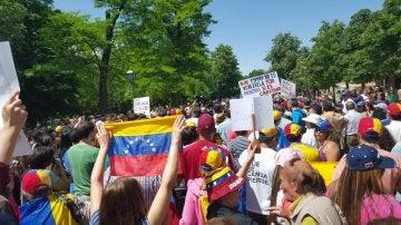 Marcha en Madrid para reivindicar la libertad de los presos políticos en Venezuela