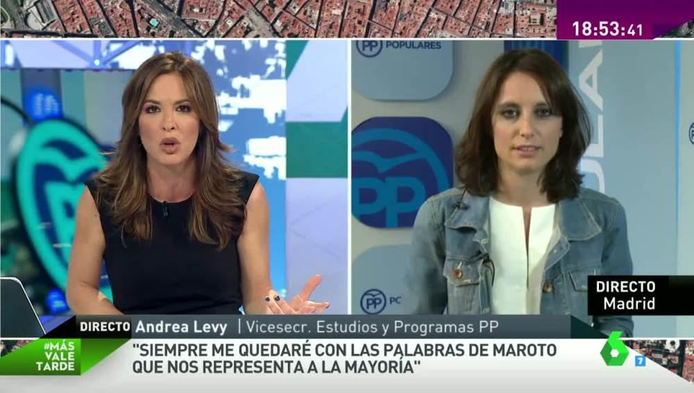Entrevista a Andrea Levy en 'Mas vale tarde'