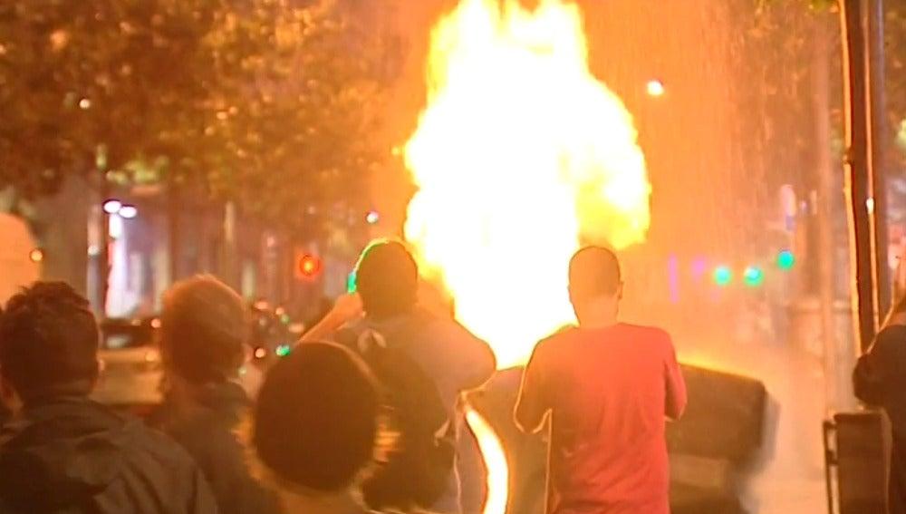 Disturbios en el barrio de Gràcia