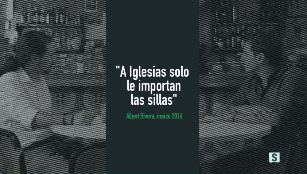 """Cartón vídeo """"A Iglesias solo le importan las sillas"""""""