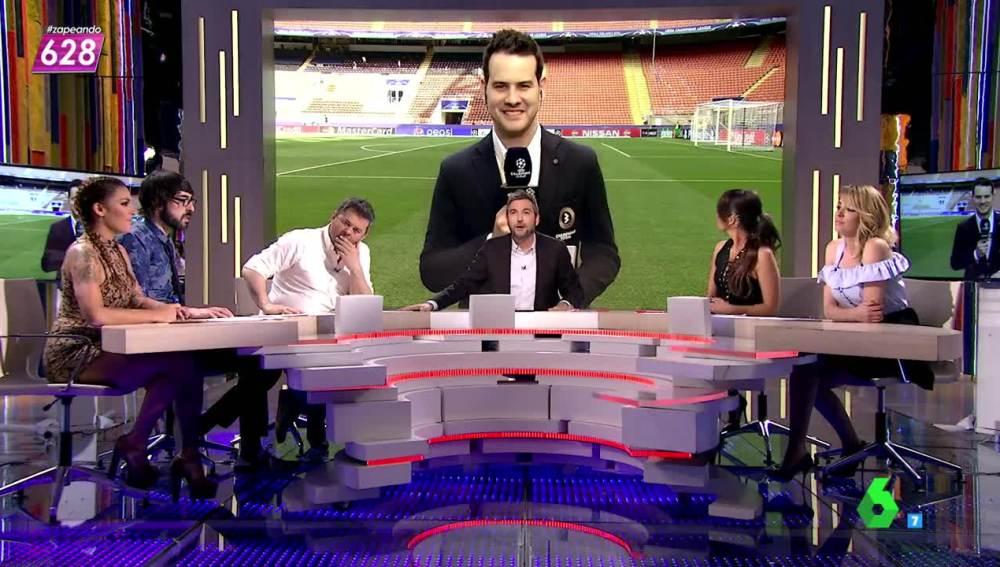 El periodista de Champions Total, Quim Domènech, conecta con Zapeando