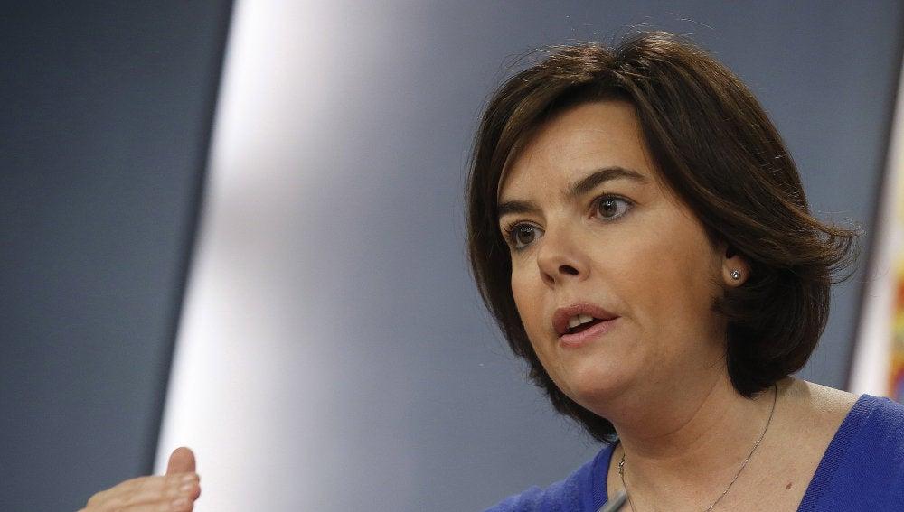 La vicepresidenta del Gobierno, Soraya Saénz de Santamaría