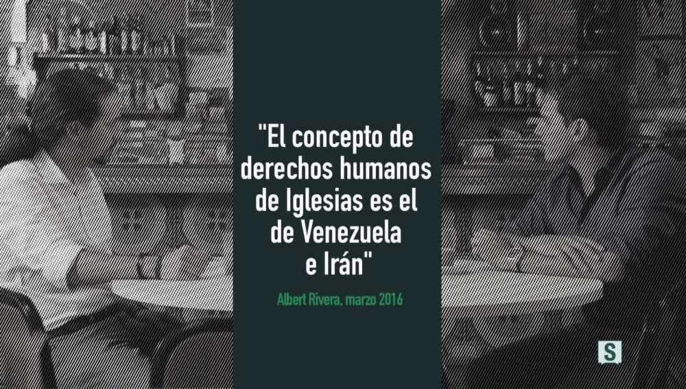 """Cartón vídeo """"El concepto de derechos humanos de Iglesias es el de Venezuela e Irán"""""""
