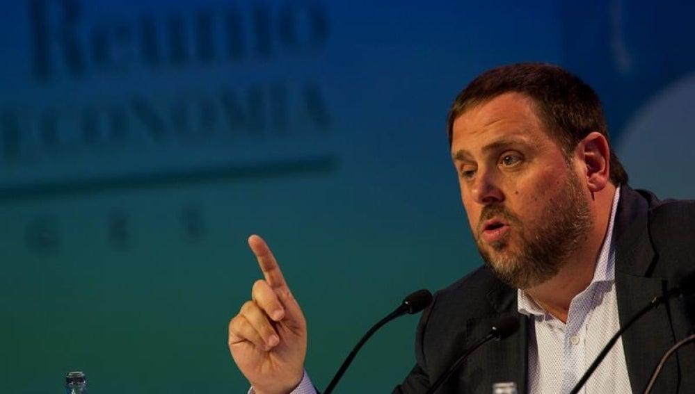 El vicepresidente y conseller de Economía de la Generalitat, Oriol Junqueras