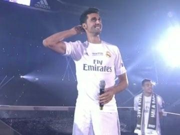 Arbeloa, en la fiesta del Bernabéu