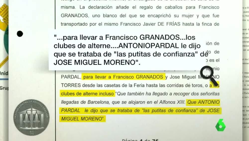 Detalles del sumario de Francisco Granados