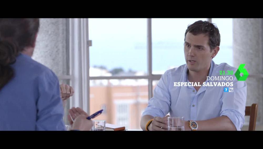 Albert Rivera, en el cara a cara con Pablo Iglesias