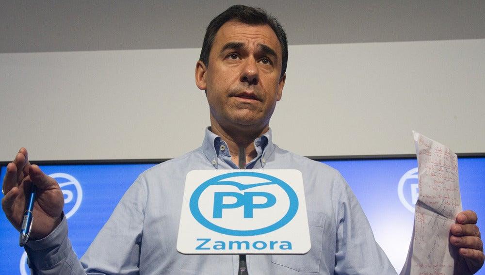 Fernando Martínez Maíllo durante una rueda de prensa