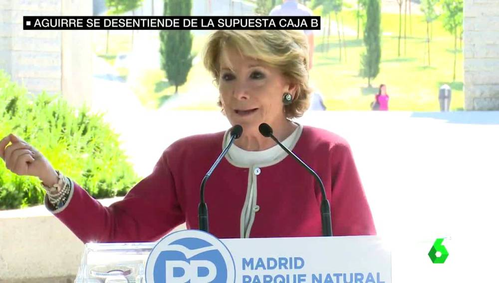 Esperanza Aguirre comparece ante los medios