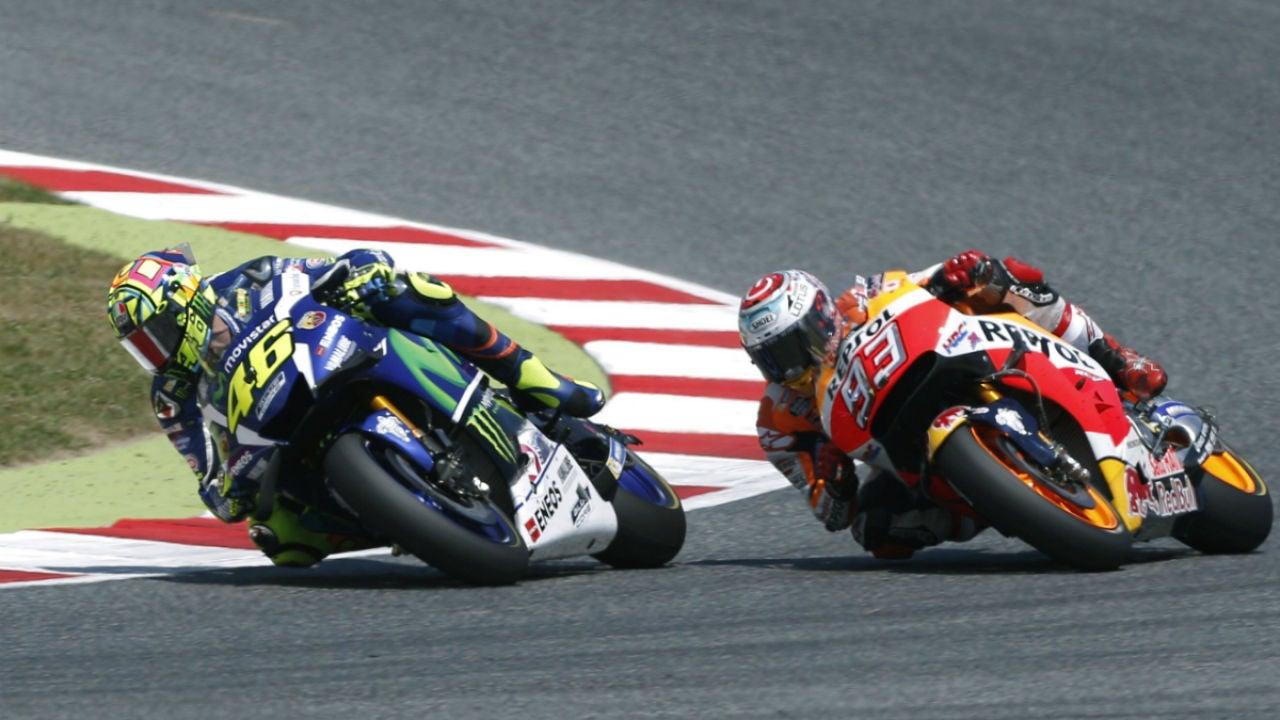 Márquez puja con Rossi en Cataluña