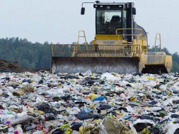Residuos en un vertedero