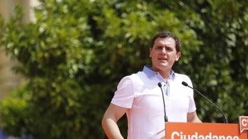 Albert Rivera durante un acto político
