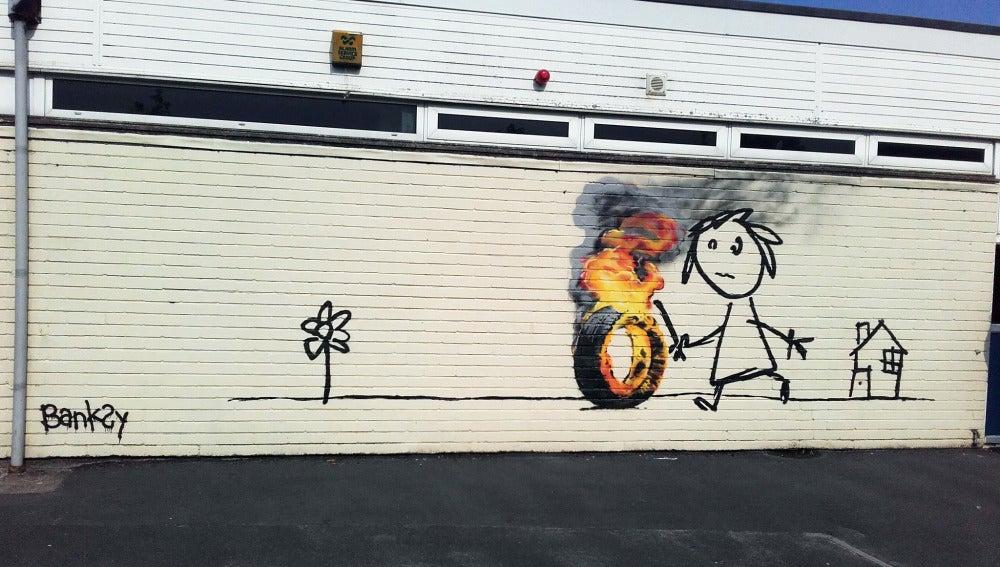 Mural hecho por Banksy para una escuela de Bristol