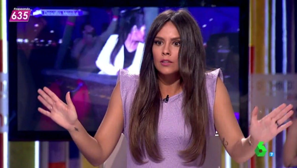 Cristina Pedroche alucina con el truco de magia