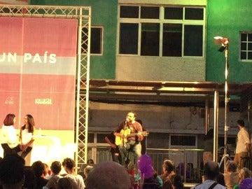 Said Muti, en una actuación de Unidos Podemos