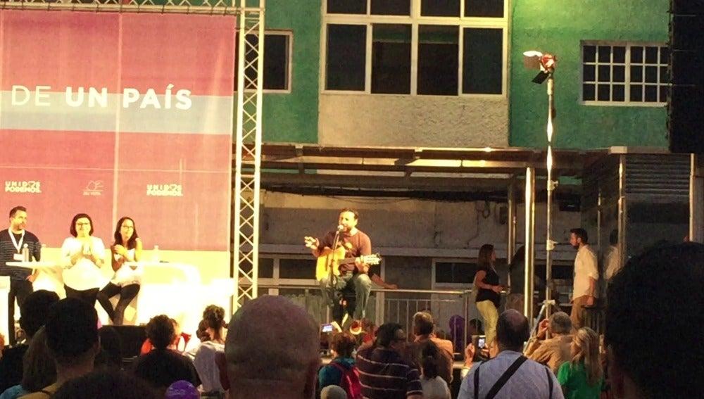 Said Muti, en un mitin de Unidos Podemos