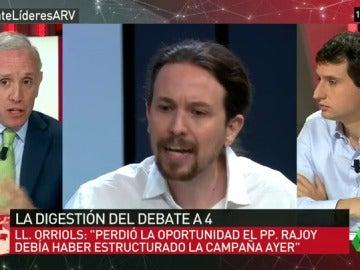 """Frame 95.592253 de: Eduardo Inda: """"Vi muy tocado a Pablo Iglesias en el debate, solo había que verle la cara"""""""