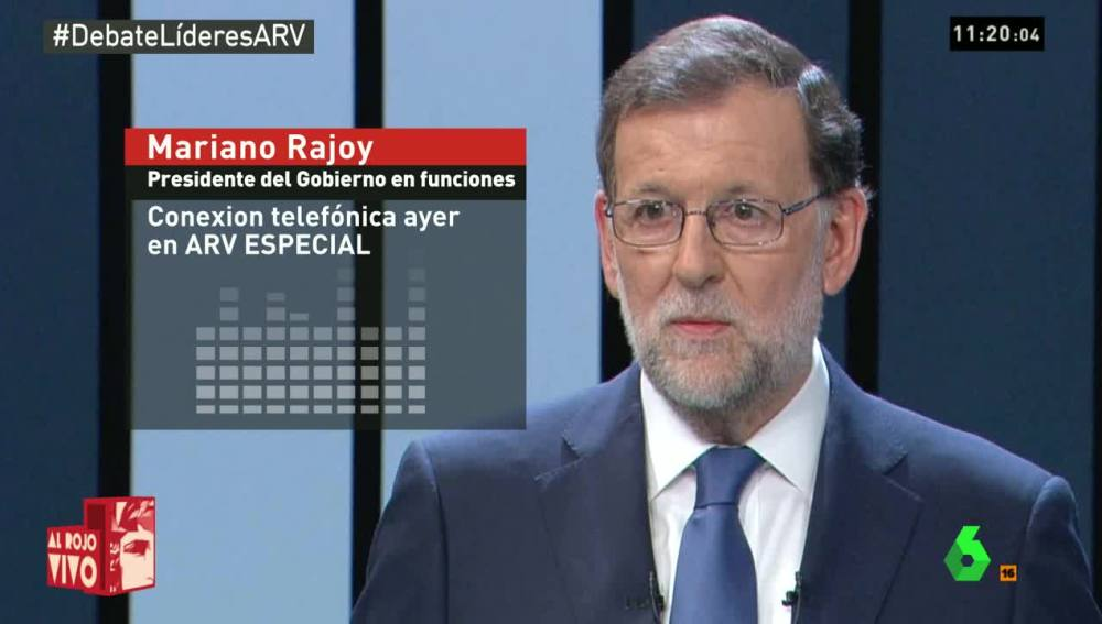 Mariano Rajoy habla en directo para Al Rojo Vivo