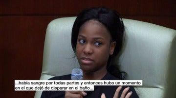 """Frame 15.998538 de: Una superviviente de la matanza de Orlando: """"Entró en el baño y empezó a disparar, luego vi que me había dado en la pierna"""""""