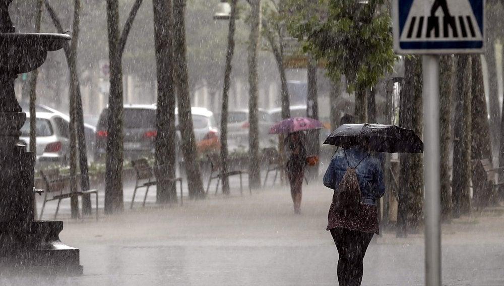 Lluvia en Tolosa