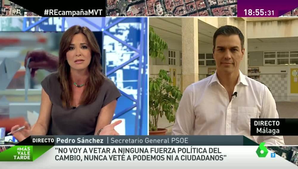 Pedro Sánchez, en MVT