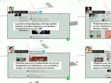 Tweets de los líderes