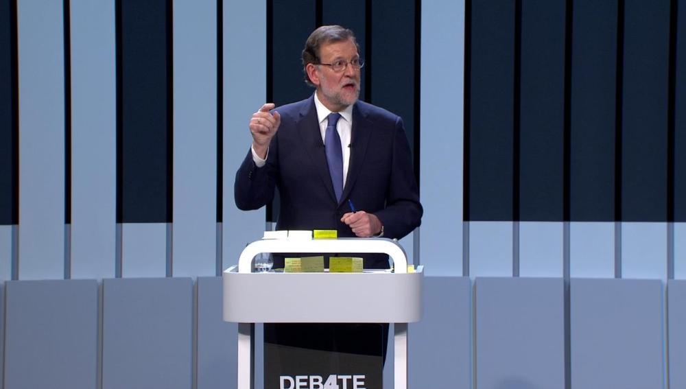 Mariano Rajoy durante el debate del 13J