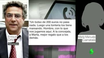Conversación de Enrique Ortiz con su mujer