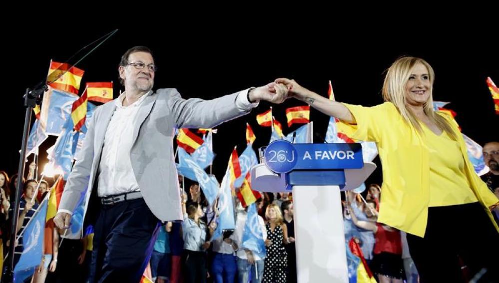 Mariano Rajoy en el cierre de campaña en el PP