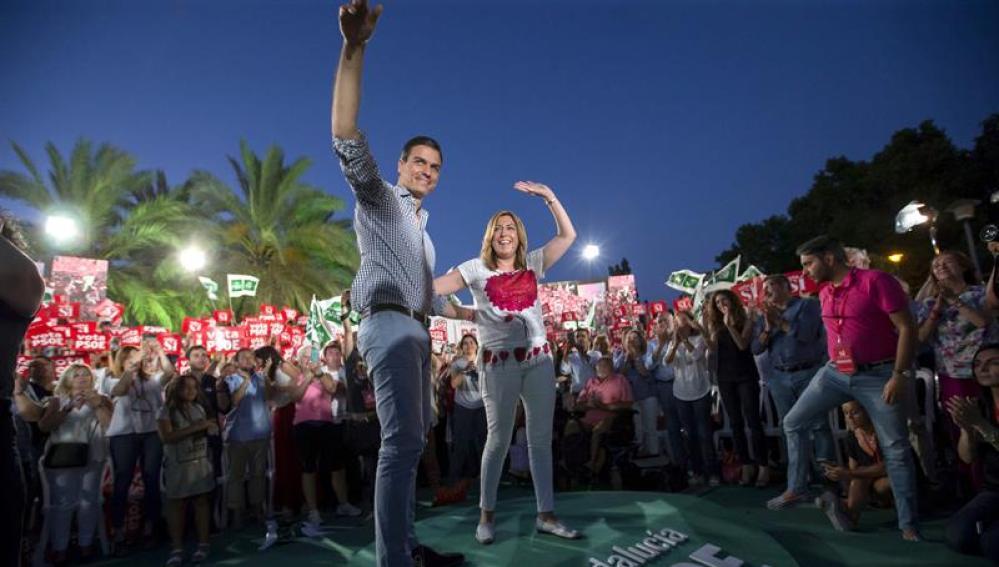 Sánchez y Díaz cierran la campaña del PSOE en Andalucía