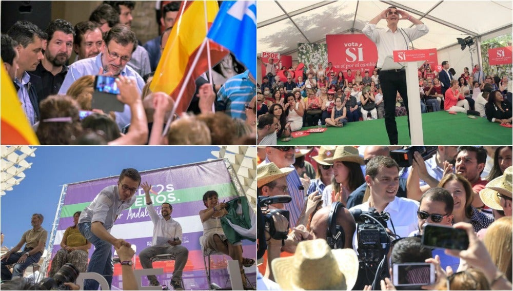 Actos de los cuatro principales partidos