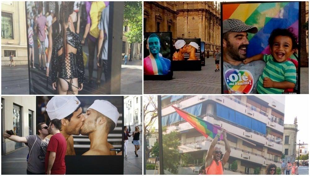 El Gobierno socialista de Sevilla no retirará de la calle la polémica exposición de fotografías del 'Orgullo Gay'