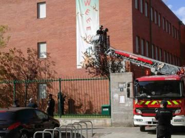 Retiran una pancarta contra Wert en el IES Andalán