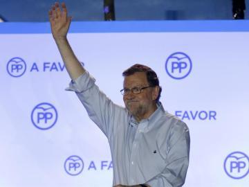 El presidente del Gobierno en funciones y líder del PP, Mariano Rajoy