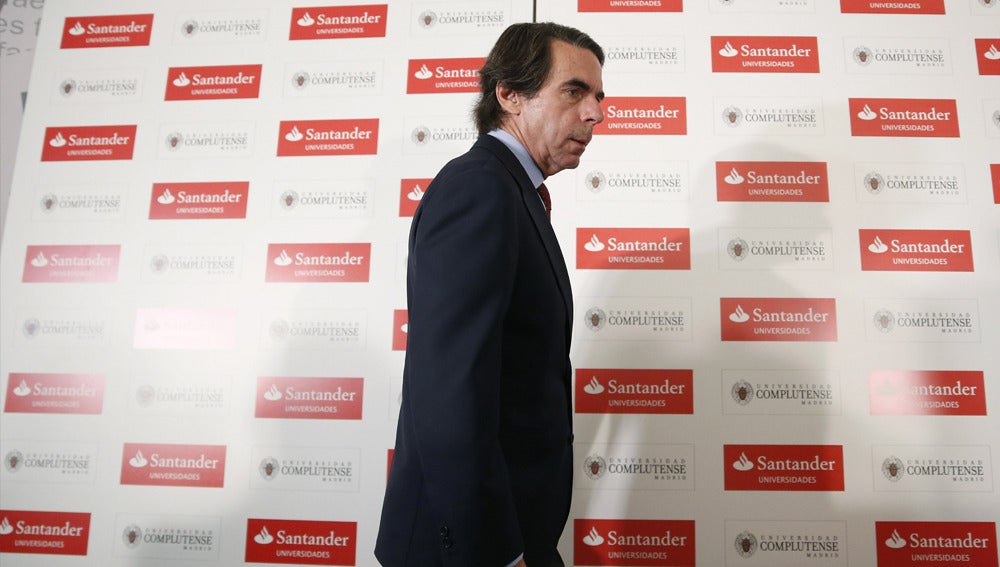 José María Aznar en un curso de verano