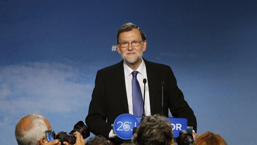 Mariano Rajoy en rueda de prensa