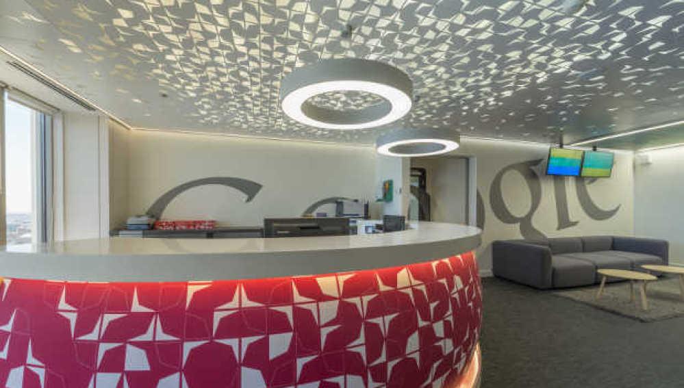Imagen de la oficina de Google en su sede en la Torre Picasso
