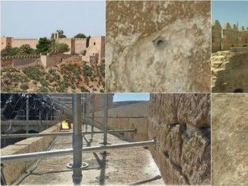 Agujeros en La Alcazaba de Almería