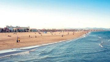 Playa de la Malvarrosa.