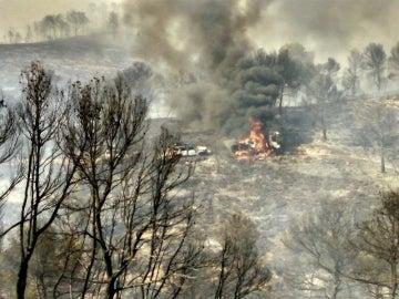 Incendio en Liétor (Albacete)