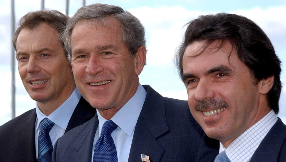 Blair, Bush y Aznar