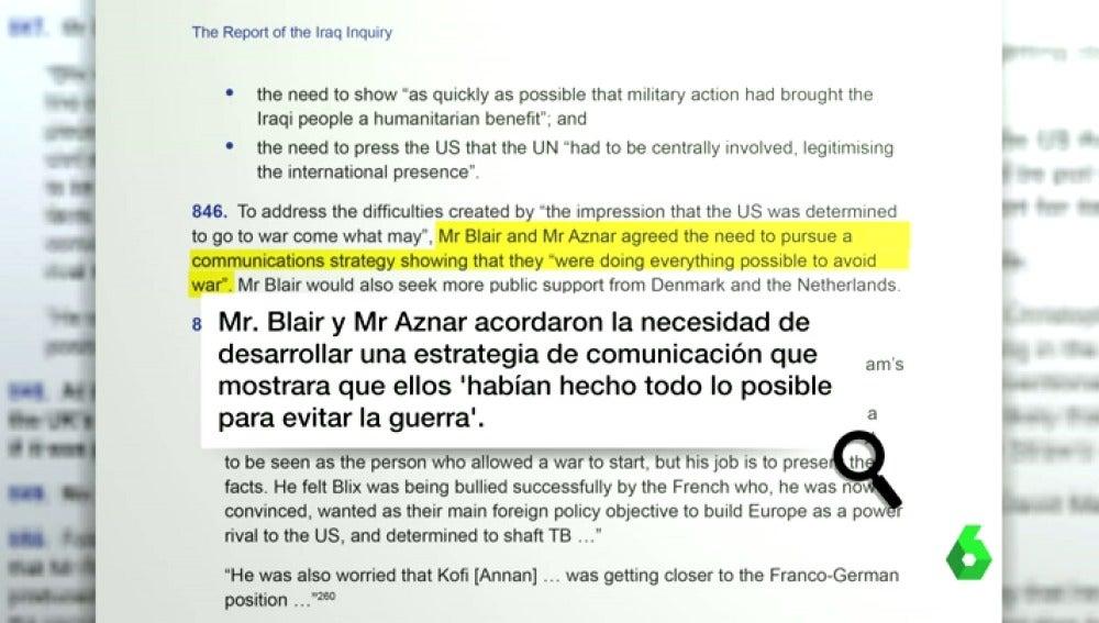 """Frame 13.735481 de: Aznar guarda silencio mientras Rajoy rehúye hablar del informe 'Chilcot': """"No he tenido tiempo de leerlo"""""""