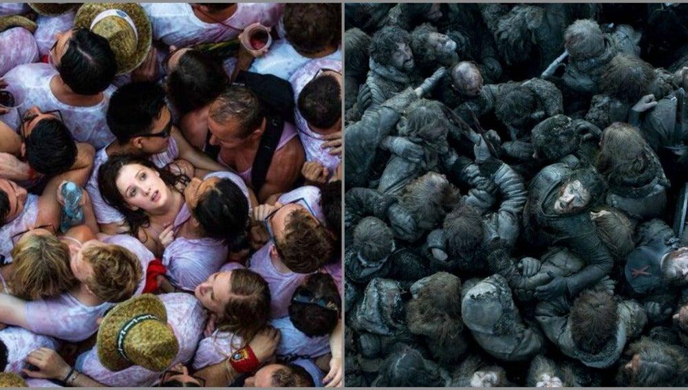 Comparación entre los sanfermines y Juego de Tronos